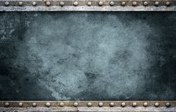 Bolt plate background bluegreen Royalty Free Stock Photography