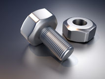 Bolt and screw Royalty Free Stock Photos