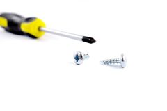 Bolt and screw driver Stock Images