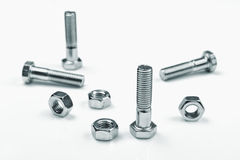 Bolt Screw and Nut Royalty Free Stock Photo