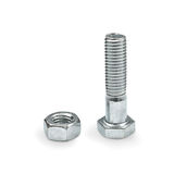 Bolt Screw and Nut Royalty Free Stock Photos