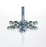 Bolt on screw-nuts Stock Photography