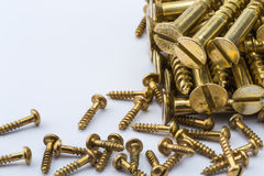Bolt screws. On a white background Stock Images
