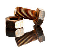 Bolt,thread,metal,dependence,concept Royalty Free Stock Photography