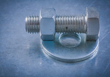 Bolt washers screwbolts construction nuts on Royalty Free Stock Photography
