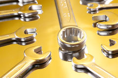 Bolt and wrench Royalty Free Stock Image