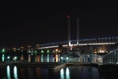 Bolte Bridge and pier Royalty Free Stock Images