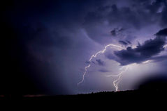 Bolted. Blue lightning bolts in a storm Stock Photos