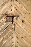 Bolted door Royalty Free Stock Image