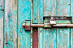 Bolted gate Stock Images