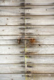 Bolted wooden door Royalty Free Stock Photo