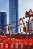 Bolting the steel together of the Dubai Metro Stat Royalty Free Stock Images
