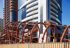 Bolting the steel together of the Dubai Metro Stat Royalty Free Stock Photo
