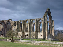 Bolton Abbey. Under a dark rain threatening sky Stock Photos