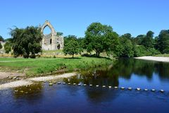 Free Bolton Abbey And River Wharfe, Wharfedale, North Yorkshire, England Stock Image - 151699381