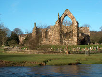 Bolton Abbey - front view. Bolton Abbey in Yorkshire Stock Photo