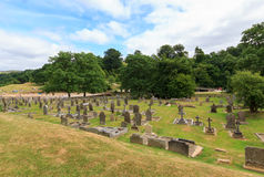 Bolton Abbey Graveyard. In North Yorkshire, England stock photos