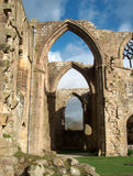 Bolton Abbey - row of arches. Bolton Abbey, ruins in Yorkshire Stock Photography