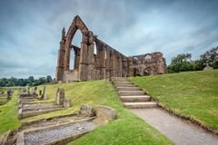 Bolton Abbey tombstones Stock Photo