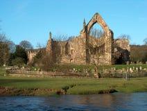 Bolton-Abtei - Vorderansicht Stockfoto