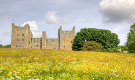 Bolton Castle. Is a 14th-century castle located in Wensleydale, North Yorkshire, in England. The nearby village Castle Bolton takes its name from the castle Royalty Free Stock Image