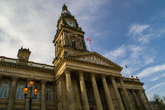 Bolton, England town hall. Royalty Free Stock Images