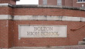 Bolton High School, Bolton, TN. Bolton High School part of the Bolton City Schools district serving students in the Tennessee city of Bolton in grades 6th royalty free stock photography