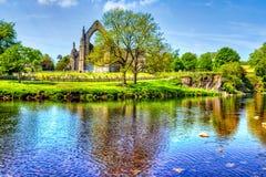Bolton opactwo w Yorkshire dolinach, Wielki Brytania obraz royalty free