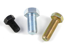 Bolts. Hexagonal bolts Royalty Free Stock Image