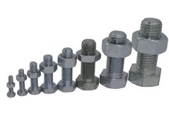Bolts And Nuts Arranged Stock Photos