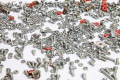 Free Bolts And Nuts Isolated On White Background Royalty Free Stock Photos - 44564338