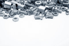 Bolts as background Stock Photography