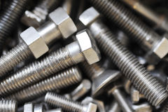 Bolts  in box Royalty Free Stock Photo