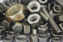 Bolts closeup Stock Photos