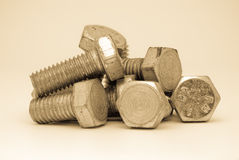 Bolts Composition Royalty Free Stock Images