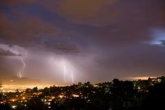 bolts evening lightning Στοκ Φωτογραφίες