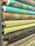 Bolts of fabric Royalty Free Stock Photography