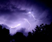 Bolts of Lightning Royalty Free Stock Photography