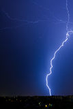 Bolts of lightning above Bucharest. In a summer night Stock Photography