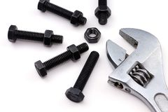 Bolts and nut Royalty Free Stock Images