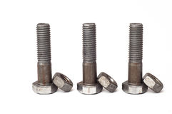 Bolts and nuts Royalty Free Stock Image