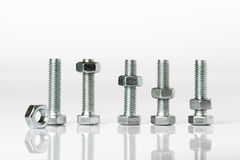 Bolts and nuts Stock Photos