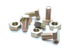 Bolts and nuts. Group of bolt and nut Stock Photos
