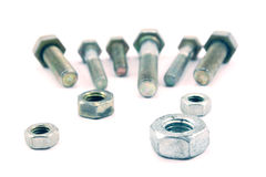 Bolts & nuts Stock Photo