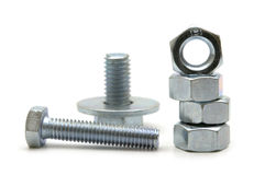 Bolts and nuts stock photo