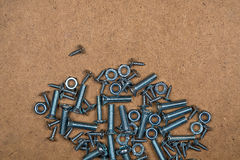 Bolts and nuts in circle Royalty Free Stock Image