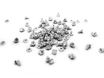 Bolts and nuts (3d render). The Bolts and nuts (3d render Stock Photo