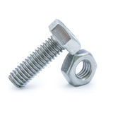 Bolts and nuts Royalty Free Stock Images