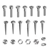 Bolts nuts screws set Stock Image