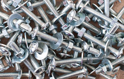 Bolts, nuts, washers Royalty Free Stock Photo